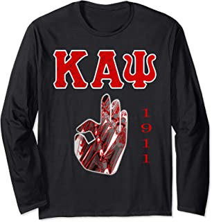 Kappa Crimson Alpha Psi Fraternity Great Gift Long Sleeve T-Shirt