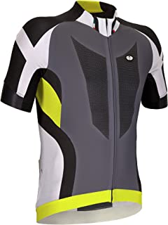 GSG Cervino - Men´s Cycling T-Shirt - with Zip - Quickdry Jersey - Yellow