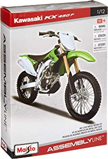 1: 12 Al Kawasaki KX 450F (Colors May Vary)