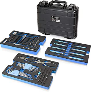 Powerbuilt 83 Pc. 420J2 Stainless Steel Marine Boat Repair Tool Set, Drivers, Pliers, Wrenches, Mallet, Bit Driver/Bits, S...