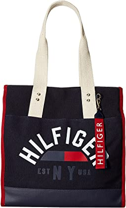 Tommy Hilfiger - Carmel North/South Logo Canvas Tote