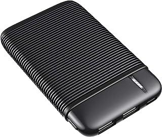 RIWNNI Mini Powerbank 5000mAh, Ultra Compatto batteria esterna Caricabatterie Portatile con 2 Ingresso e 2 Uscite Ricarica...