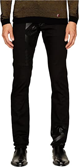Versace Jeans - Tonal Exploded Print Jeans in Black