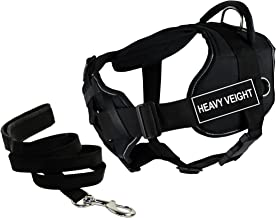 "Dean & Tyler's DT Fun Chest Support""HEAVY WEIGHT"" Harness with Reflective Trim, Small, and 6 ft Padded Puppy Leash."