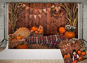 Kate 7x5ft Fall Festival Photography Backdrops Pumpkin and Haystack Photo Backgrouds Halloween Barn Harvest Backdrop Photobooth