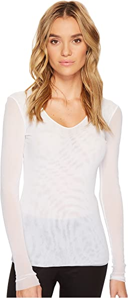 Only Hearts - Tulle Long Sleeve V-Neck