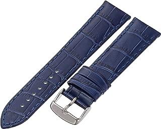 Tech Swiss LEA1870-22 22mm Leather Crocodile Blue Watch Strap