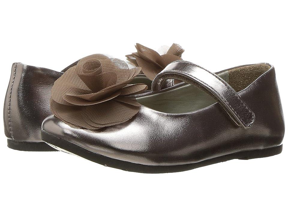 Pazitos Silk Rose MJ PU (Toddler/Little Kid) (Taupe) Girls Shoes