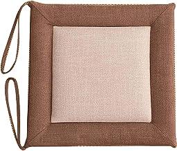 Almofada de cadeira Almofada de assento quadrada com gravatas, almofada de linho, almofada de cadeira confortável respiráv...