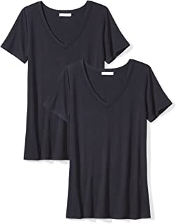 Amazon Brand - Daily Ritual Women's Jersey Short-Sleeve V-Neck T-Shirt