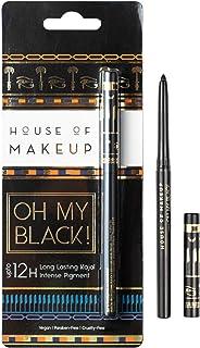 House of Makeup Oh My Black Waterproof and Smudge-free Black Kajal (0.25g) (Single)