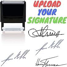 Your Signature Custom Signature Stamp - Customizable Signature Stamp - Personalized Self-Inking Signature Stamps. Black Bl...