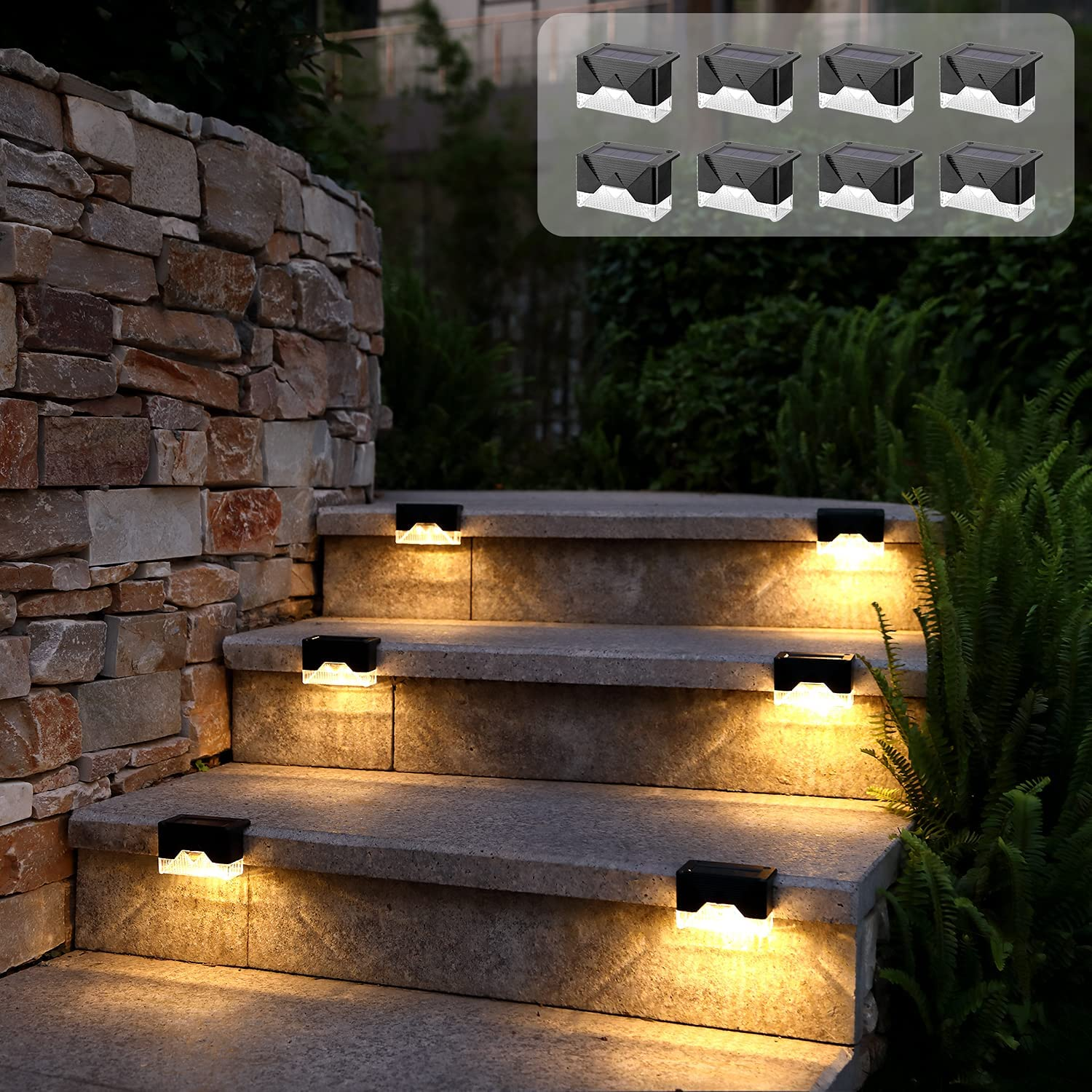Solar Deck Lights 8 Max 90% OFF Pack Shipping included Sol Waterproof Fence LED