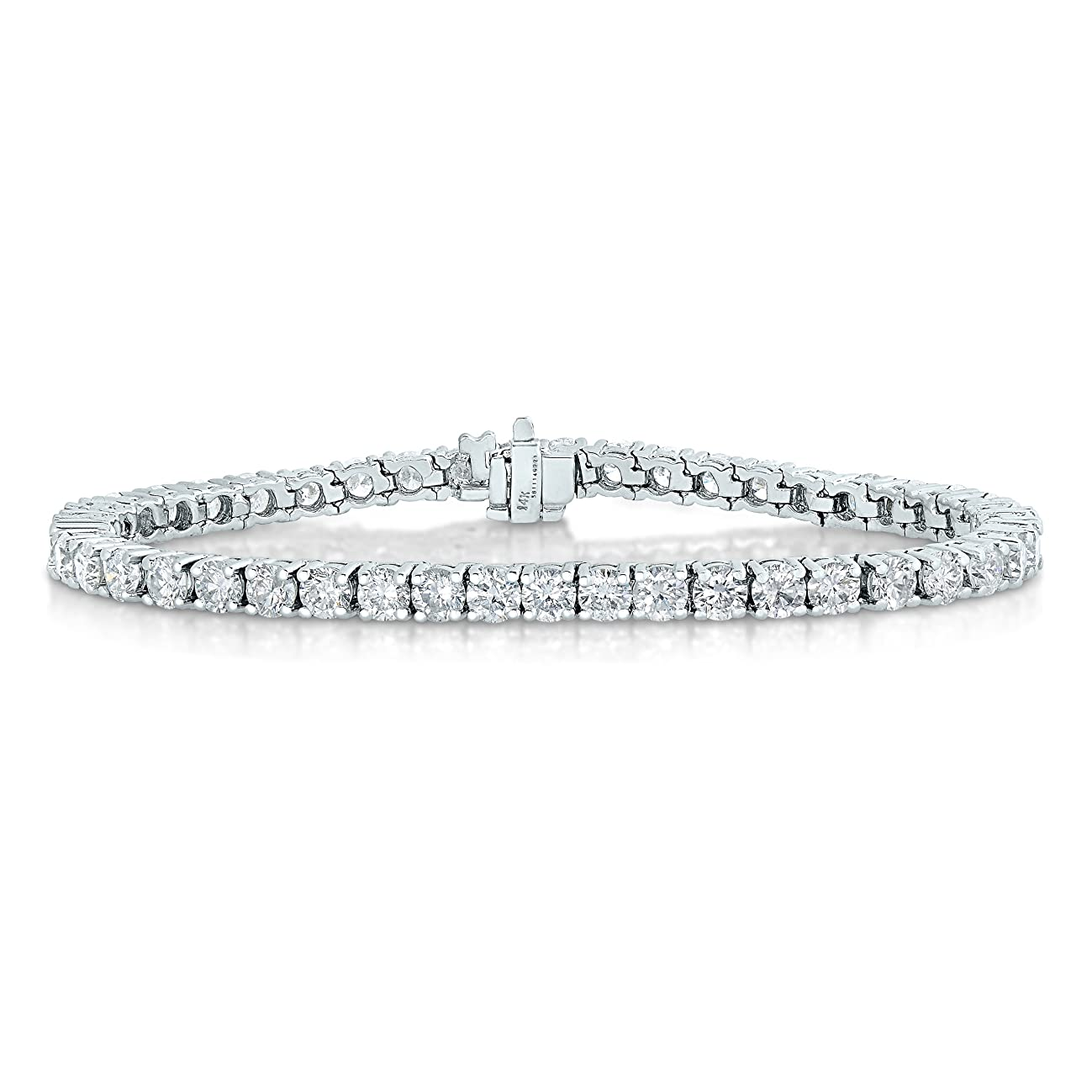 Vir Jewels 2 cttw Certified I1-I2 Clarity Diamond Bracelet 14K White Gold (H-I)