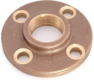 Everflow BRFF0012-NL 1/2 Inch Female NPT Threaded Brass Floor Flange with Holes 125 Lead Free, Durable, Brass Construction, Higher Corrosion Resistance, Economical & Easy to Install