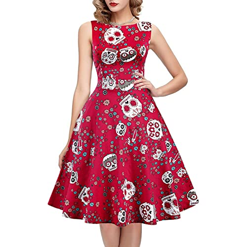 efd52548d22 IHOT Vintage Tea Dress 1950 s Floral Spring Garden Retro Swing Prom Party  Cocktail Dress for Women