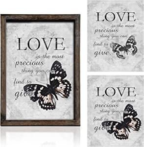 Rustic Motivational Wooden Wall Decor Inspirational Love Quotes Framed Art Decoration