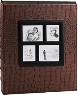 ALUCKY Photo Album 600 Pockets, Premium Leather Cover 4X6 Photo for Wedding Anniversary Baby Family Record