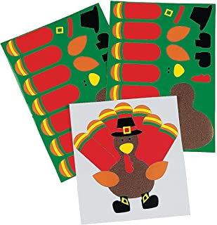 make a turkey stickers kids stationery & stickers