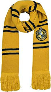 CINEREPLICAS - Harry Potter - Scarf - Ultra soft - Deluxe Edition - Officially licensed - Hufflepuff - 250 cm - Yellow & b...