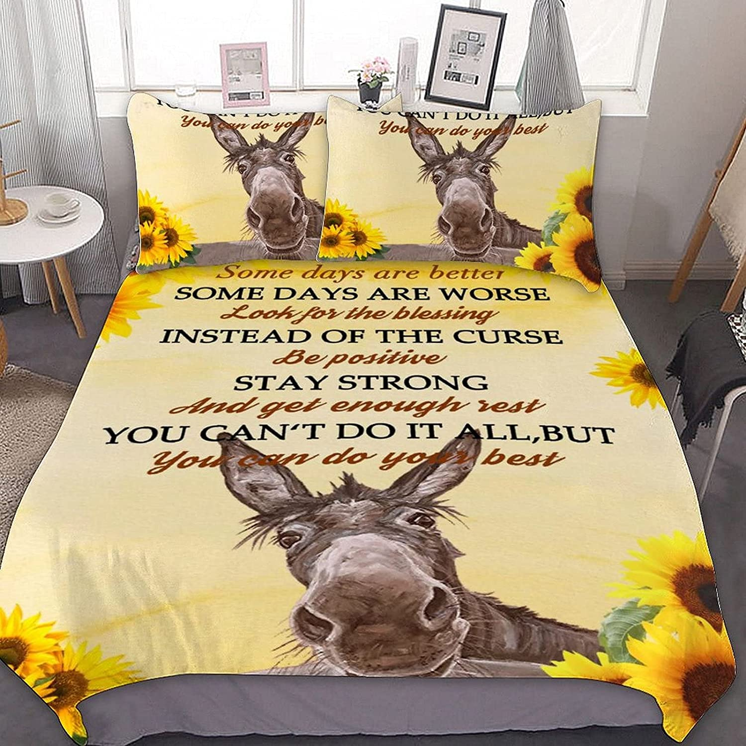 PNNUO Sunflower Queen Bed Set Twin OFFicial mail order Comforter Size Sets Cheap mail order sales Full King