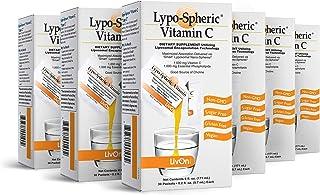 Lypo–Spheric Vitamin C – 6 Cartons (180 Packets) – 1,000 mg Vitamin C & 1,000 mg Essential Phospholipids Per Packet – Lipo...