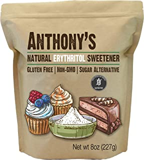 Anthony's Erythritol Sweetener, 8 oz, Non GMO, Natural Sweetener, Keto & Paleo Friendly