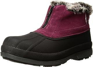 Propet Women's Lumi Ankle Zip Snow Boot, Berry, 6.5 4E US