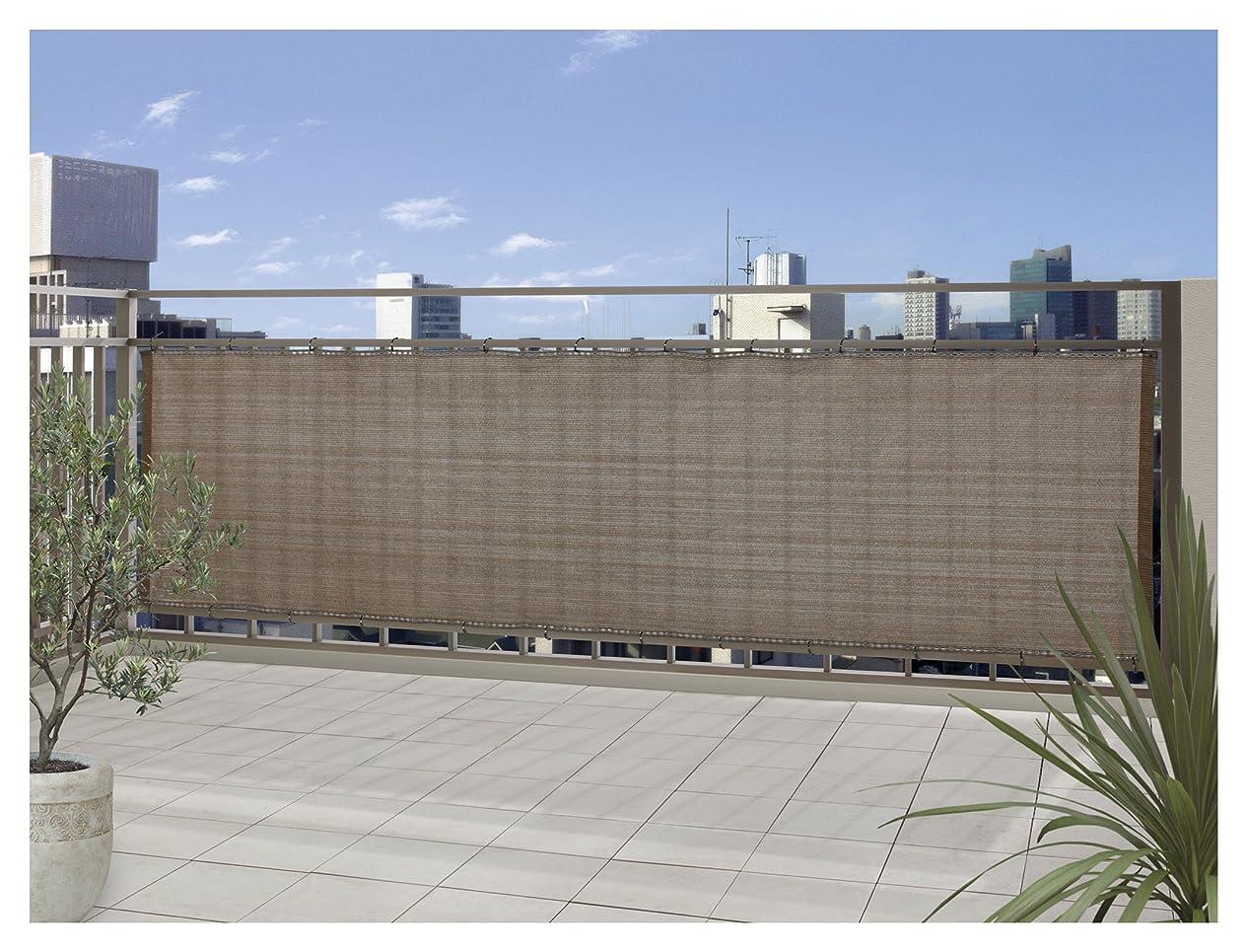 バスタブ助けてに応じてタカショー バルコニーシェード モカ 約360×100cm