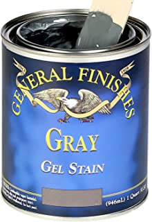 General Finishes GRQ Oil Base Gel Stain, 1 Quart, Gray