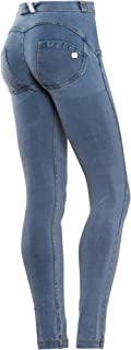 WR.UP Pants – Skinny Push Up Pants to Shape and Lift Your Butt – Italian Denim Jeans for Women – Regular Rise Fit