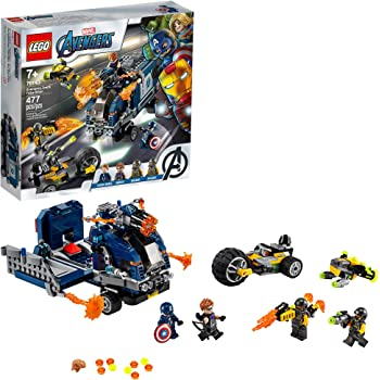 LEGO Marvel Avengers Truck Take-Down 76143 Captain America and Hawkeye Superhero Action, Cool Minifigures and Vehicles, New 2020 (477 Pieces)