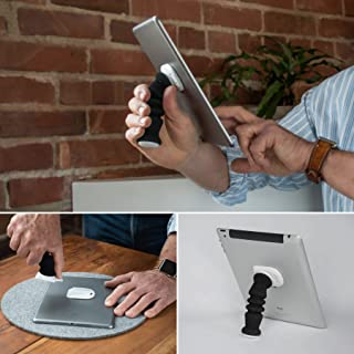 iPad Handle That is Soft and Adjustable, Also Serves as an iPad Stand and Tablet Holder.