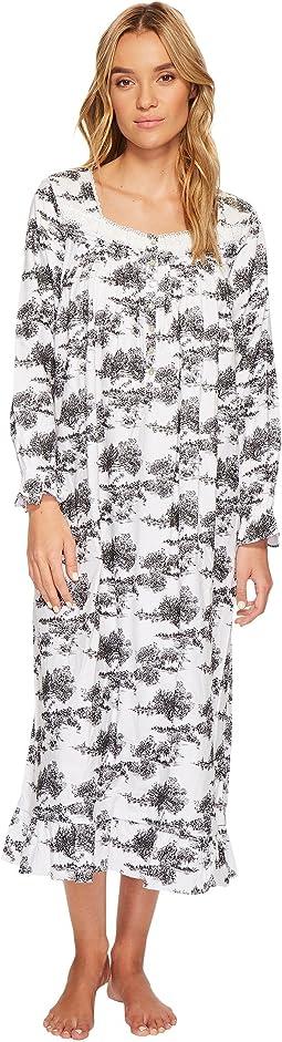 Eileen West - Toile Print Flannel Ballet Nightgown