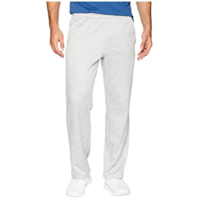 adidas Team Issue Fleece Open Hem Pants (Grey Two Metallic/Hi-Res Aqua Metallic) Men
