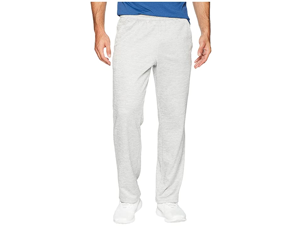 adidas Team Issue Fleece Open Hem Pants (Grey Two Metallic/Hi-Res Aqua Metallic) Men