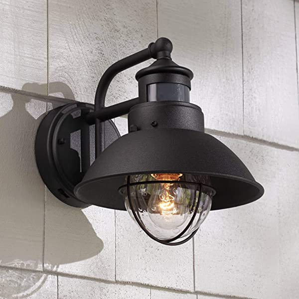 Oberlin Rustic Outdoor Wall Light Black Exterior Fixture Motion Security Dusk To Dawn For House Deck Porch John Timberland