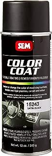 SEM Products 15243 Satin Black Color Coat - 12 oz.