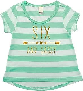 Bump and Beyond Designs Sixth Birthday Shirt Girl, Sixth Birthday Outfit
