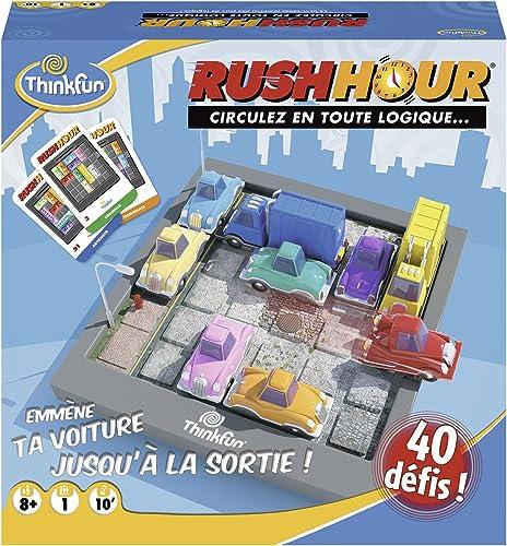Ravensburger - Rush Hour - Jeu de logique Casse-tête - ThinkFun - 40 défis 4 niveaux - 1 joueur ou plus dès 8 ans - 7...