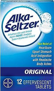 Alka Seltzer Orig Size 12s Alka Seltzer Original Antacid & Pain Relief Medicine 12ct