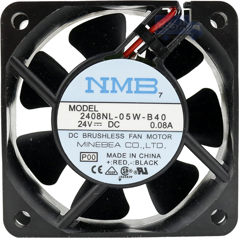 NMB Ventilador 60 mm 60 x 60 x 20 2408NL-05W-B40 Refrigeración 24 V 6 cm 2 cables (+/-) 0,08 A
