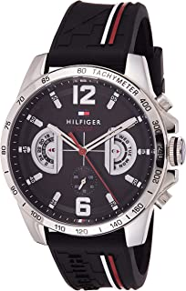 Tommy Hilfiger Reloj Multiesfera para Hombre de Cuarzo con Correa en Silicona 1791473