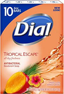 Dial Antibacterial Bar Soap, Tropical Escape, 4 Ounce, 90 Bars