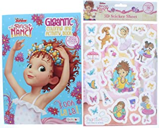 Disney Junior Fancy Nancy Gigantic Coloring & Activity Book 200 Pages and 3D Stickers (20 Total Stickers)