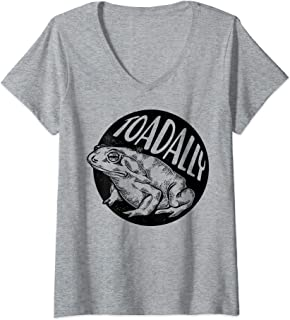 Womens Toadally Toad Sketch Portrait V-Neck T-Shirt