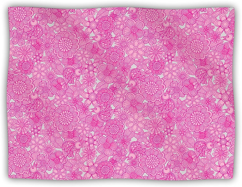 Kess InHouse Julia Grifol 'Welcome Birds to My Pink Garden' Dog Blanket, 40 by 30Inch