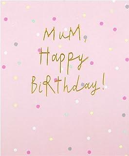 Birthday Card for Mum from The Hallmark Studio - Embossed Text Design