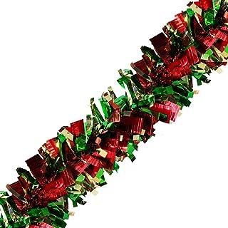 Brite Star Bent Tip Sparkle Elegance Tinsel, RED/Green/Gold