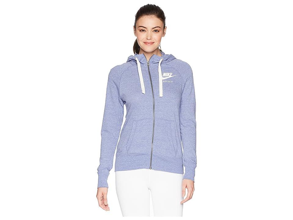 Nike Gym Vintage Full Zip Hoodie (Purple Slate/Sail) Women